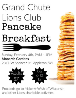 Grand Chute Lions Club Pancake Breakfast